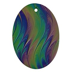 Texture Abstract Background Oval Ornament (two Sides) by Nexatart