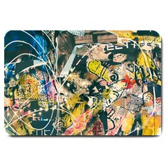 Art Graffiti Abstract Vintage Large Doormat