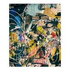 Art Graffiti Abstract Vintage Shower Curtain 60  X 72  (medium)