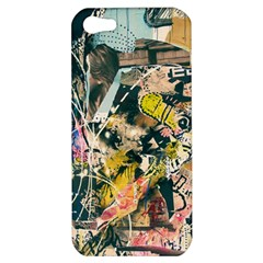Art Graffiti Abstract Vintage Apple Iphone 5 Hardshell Case by Nexatart