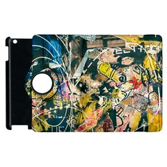 Art Graffiti Abstract Vintage Apple Ipad 3/4 Flip 360 Case by Nexatart