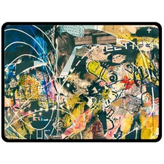 Art Graffiti Abstract Vintage Double Sided Fleece Blanket (large)  by Nexatart