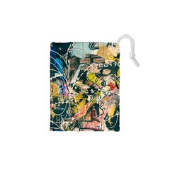 Art Graffiti Abstract Vintage Drawstring Pouches (xs)  by Nexatart