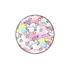 Unicorn Rainbow Hat Clip Ball Marker (10 Pack) by Nexatart