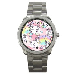 Unicorn Rainbow Sport Metal Watch