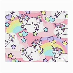 Unicorn Rainbow Small Glasses Cloth (2 Side) by Nexatart
