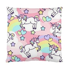 Unicorn Rainbow Standard Cushion Case (one Side) by Nexatart