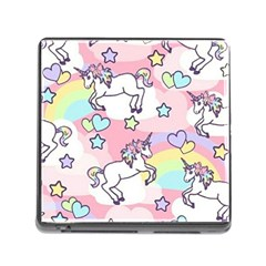 Unicorn Rainbow Memory Card Reader (square)