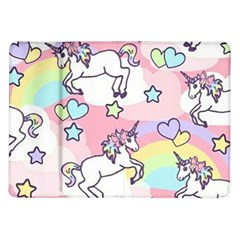 Unicorn Rainbow Samsung Galaxy Tab 10 1  P7500 Flip Case by Nexatart