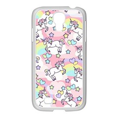 Unicorn Rainbow Samsung Galaxy S4 I9500/ I9505 Case (white)