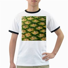 Pineapple Pattern Ringer T-shirts by Nexatart