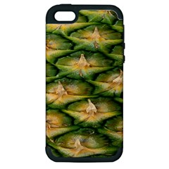 Pineapple Pattern Apple Iphone 5 Hardshell Case (pc+silicone) by Nexatart