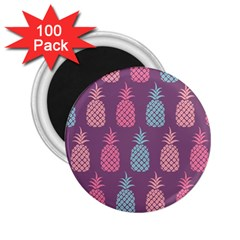Pineapple Pattern 2 25  Magnets (100 Pack)