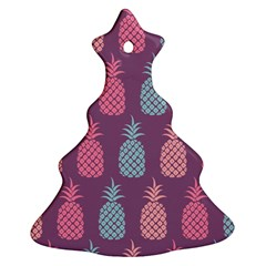 Pineapple Pattern Christmas Tree Ornament (two Sides) by Nexatart