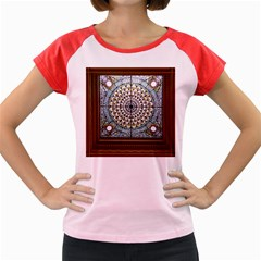 Stained Glass Window Library Of Congress Women s Cap Sleeve T Shirt