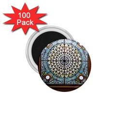Stained Glass Window Library Of Congress 1 75  Magnets (100 Pack)  by Nexatart