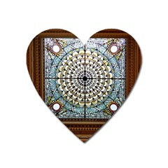 Stained Glass Window Library Of Congress Heart Magnet