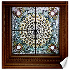 Stained Glass Window Library Of Congress Canvas 16  X 16   by Nexatart