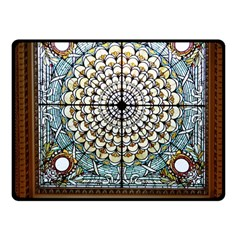 Stained Glass Window Library Of Congress Fleece Blanket (small)