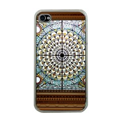 Stained Glass Window Library Of Congress Apple Iphone 4 Case (clear)