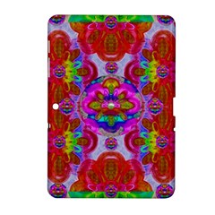 Fantasy   Florals  Pearls In Abstract Rainbows Samsung Galaxy Tab 2 (10 1 ) P5100 Hardshell Case  by pepitasart