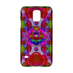 Fantasy   Florals  Pearls In Abstract Rainbows Samsung Galaxy S5 Hardshell Case  by pepitasart