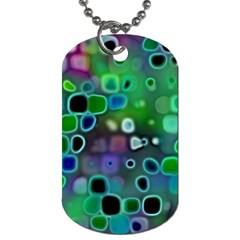 Psychedelic Lights 1 Dog Tag (two Sides) by MoreColorsinLife