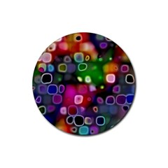 Psychedelic Lights 2 Rubber Round Coaster (4 Pack)