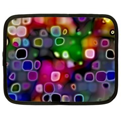 Psychedelic Lights 2 Netbook Case (xxl)  by MoreColorsinLife