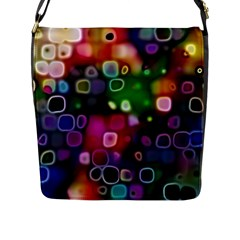 Psychedelic Lights 2 Flap Messenger Bag (l)  by MoreColorsinLife