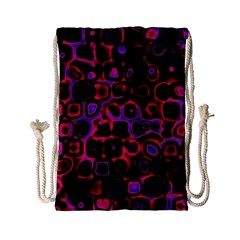 Psychedelic Lights 3 Drawstring Bag (small) by MoreColorsinLife