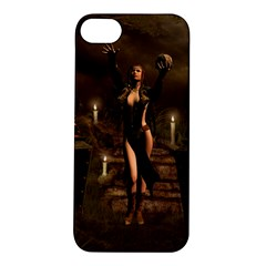 The Dark Side, Dark Fairy With Skulls In The Night Apple Iphone 5s/ Se Hardshell Case by FantasyWorld7