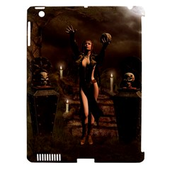 The Dark Side, Dark Fairy With Skulls In The Night Apple Ipad 3/4 Hardshell Case (compatible With Smart Cover) by FantasyWorld7