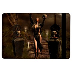 The Dark Side, Dark Fairy With Skulls In The Night Ipad Air 2 Flip by FantasyWorld7
