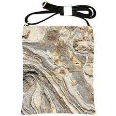 Background Structure Abstract Grain Marble Texture Shoulder Sling Bags by Nexatart