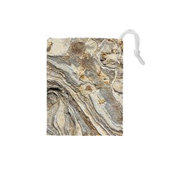 Background Structure Abstract Grain Marble Texture Drawstring Pouches (small)