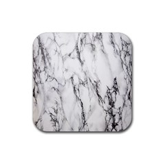 Marble Granite Pattern And Texture Rubber Square Coaster (4 Pack)