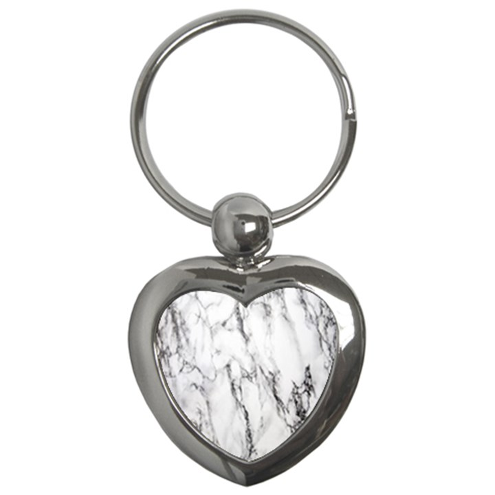 Marble Granite Pattern And Texture Key Chains (Heart)