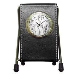 Marble Granite Pattern And Texture Pen Holder Desk Clocks