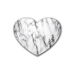 Marble Granite Pattern And Texture Rubber Coaster (heart)  by Nexatart