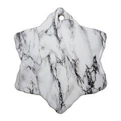 Marble Granite Pattern And Texture Ornament (snowflake)