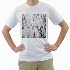 Marble Granite Pattern And Texture Men s T Shirt (white)
