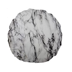 Marble Granite Pattern And Texture Standard 15  Premium Flano Round Cushions