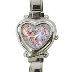 Marble Pattern Heart Italian Charm Watch