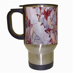 Marble Pattern Travel Mugs (white)