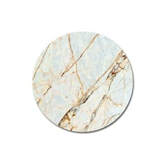 Marble Texture White Pattern Surface Effect Magnet 3  (round) by Nexatart