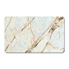 Marble Texture White Pattern Surface Effect Magnet (rectangular) by Nexatart