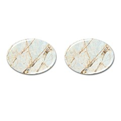Marble Texture White Pattern Surface Effect Cufflinks (oval) by Nexatart