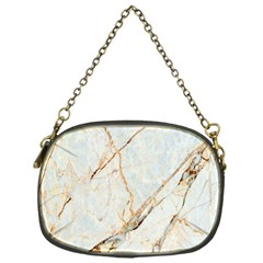 Marble Texture White Pattern Surface Effect Chain Purses (one Side)  by Nexatart