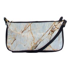 Marble Texture White Pattern Surface Effect Shoulder Clutch Bags